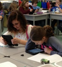 Students on iPads